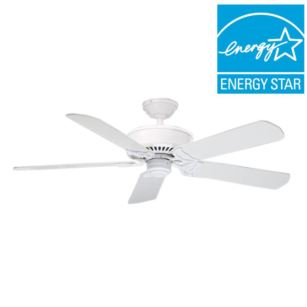Casablanca Panama DC 54 in. Snow White Ceiling Fan-59510 - The