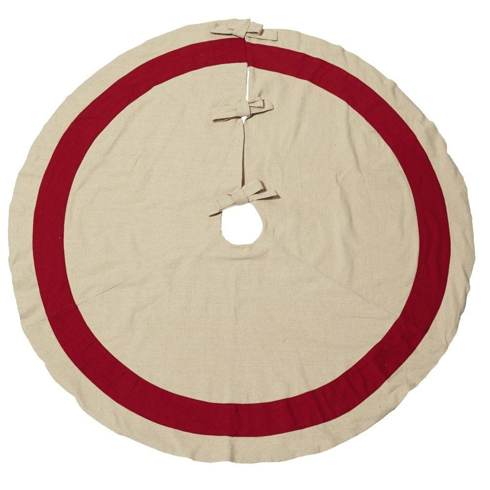 Home Decorators Collection 60 in. Cotton Red Tree Skirt