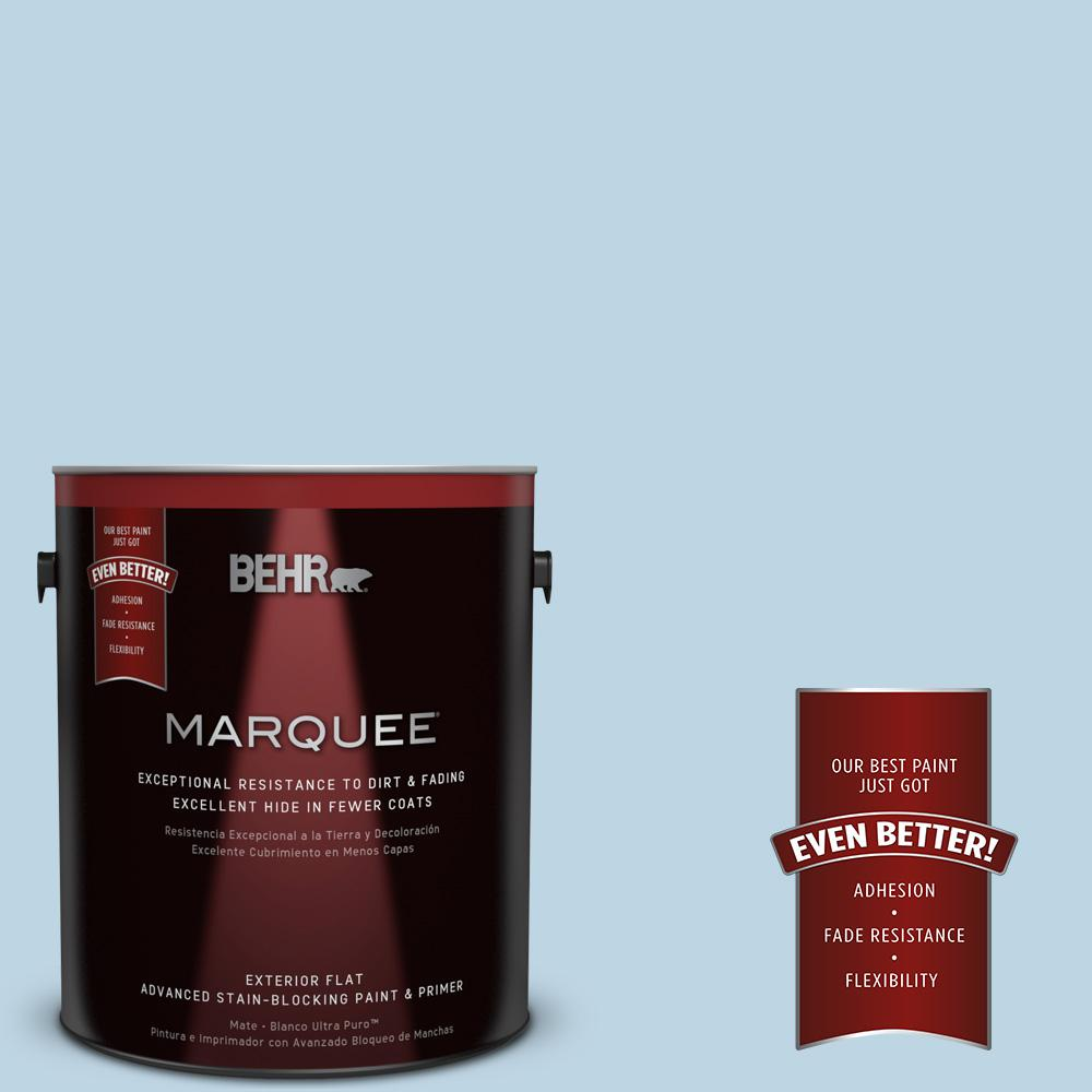 BEHR MARQUEE 1-gal. #S490-2 Glacial Stream Flat Exterior Paint-445001 - The