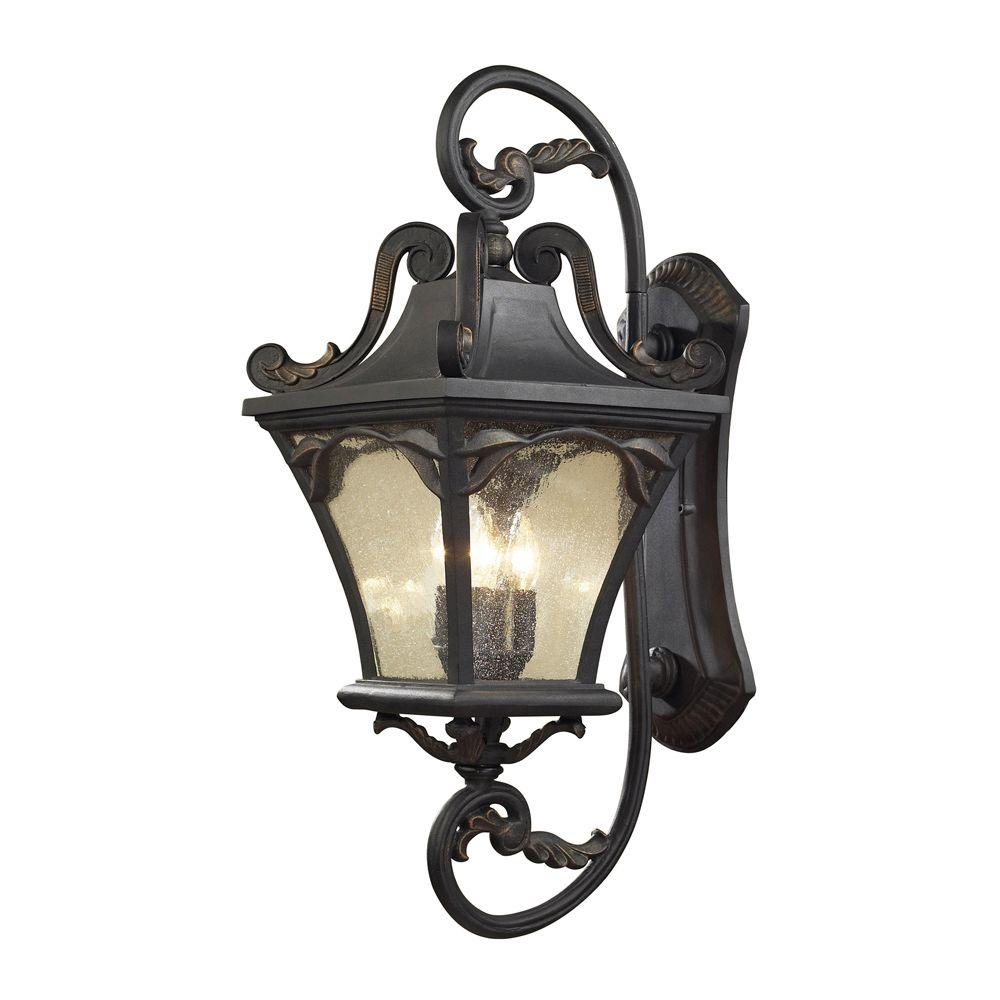 Titan Lighting Hamilton Park 4-light Outdoor Weathered Charcoal Wall Sconce-DISCONTINUED
