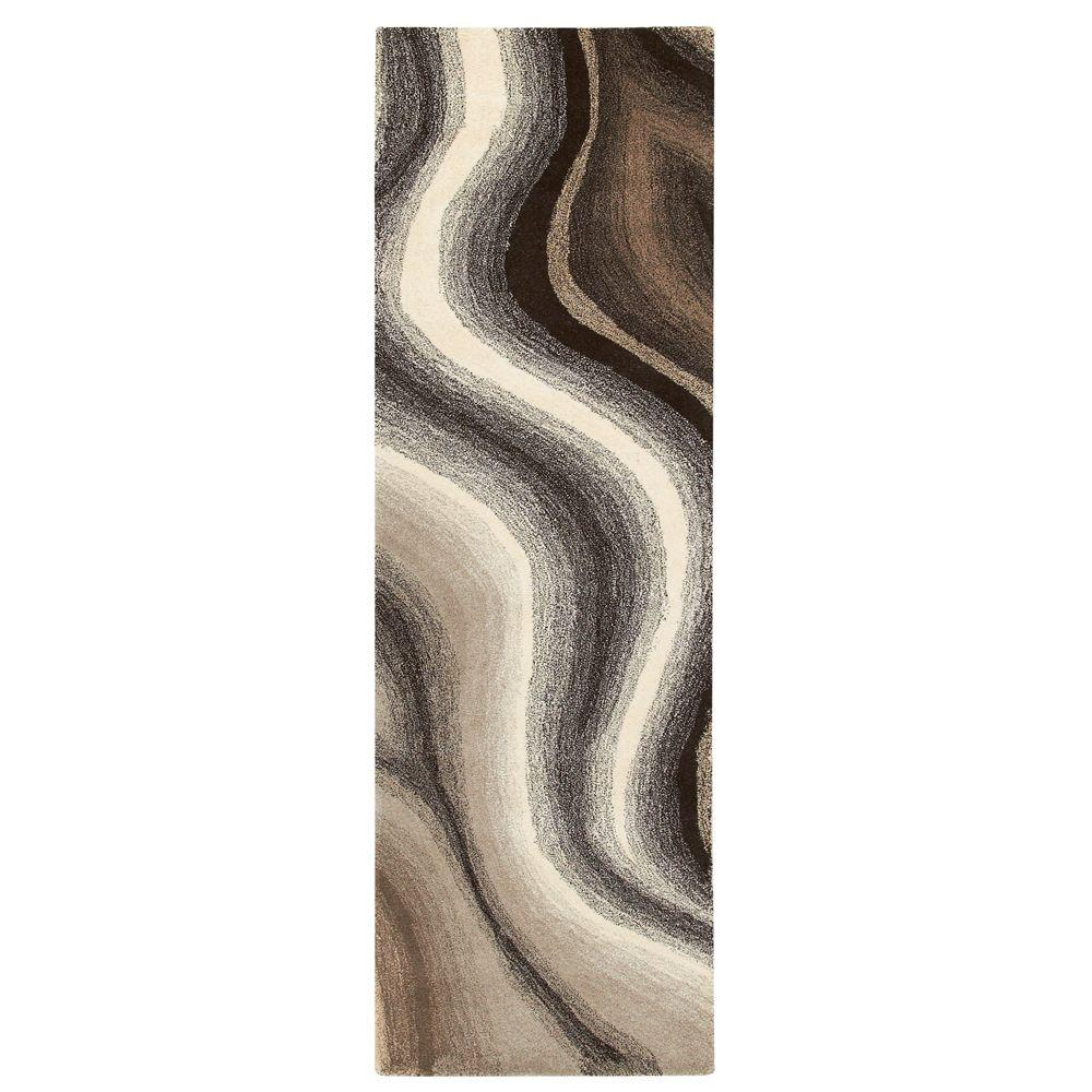 Home Decorators Collection Rush Brown and Beige 2 ft. 6 in.