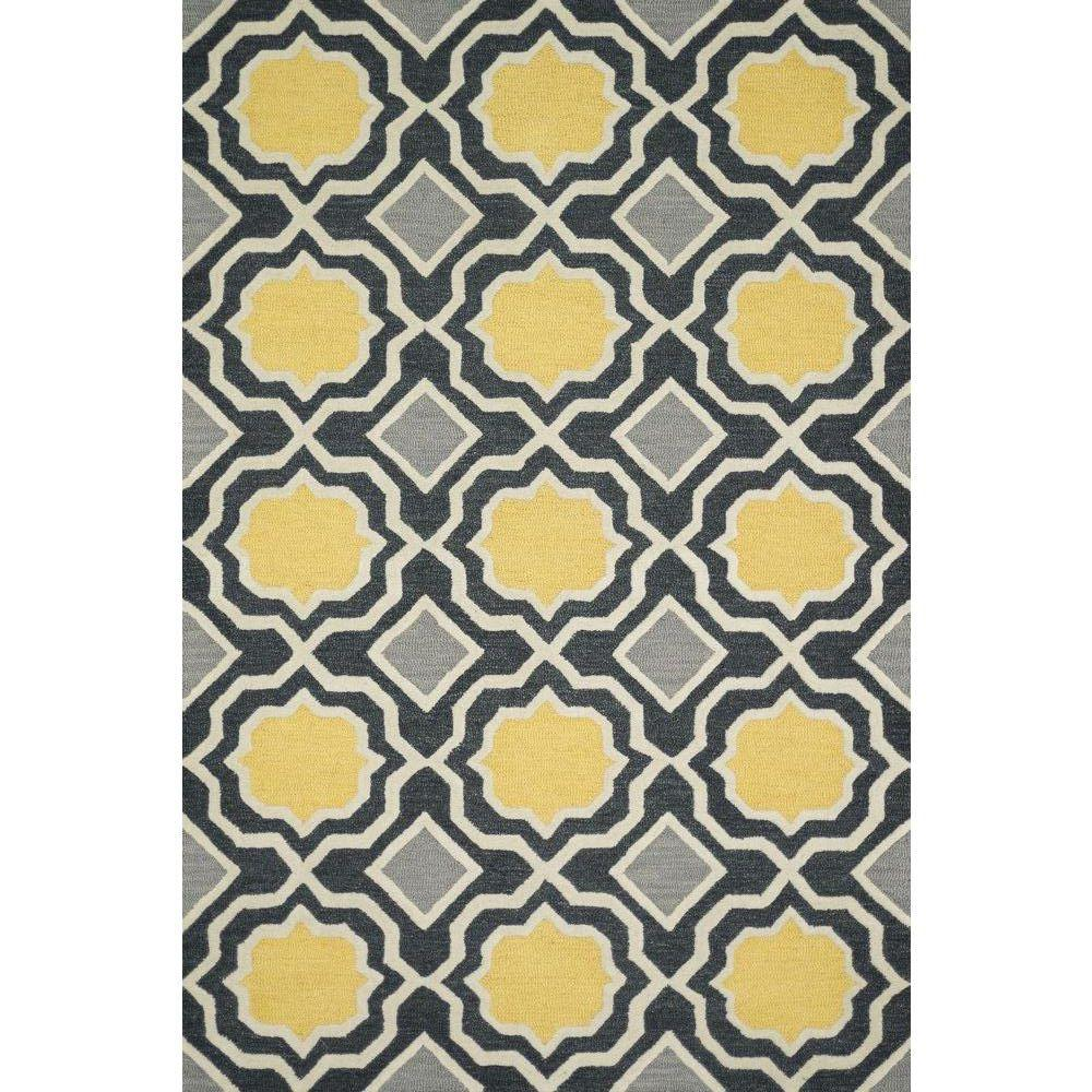 Loloi Rugs Weston Lifestyle Collection Charcoal/Gold 5 ft. x 7 ft. 6 in. Area Rug