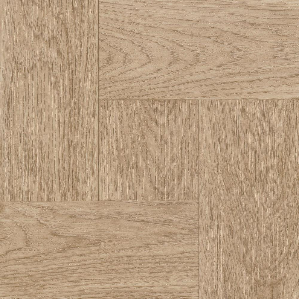 Natural Wood Parquet 12 in. x 12 in. Residential Peel and