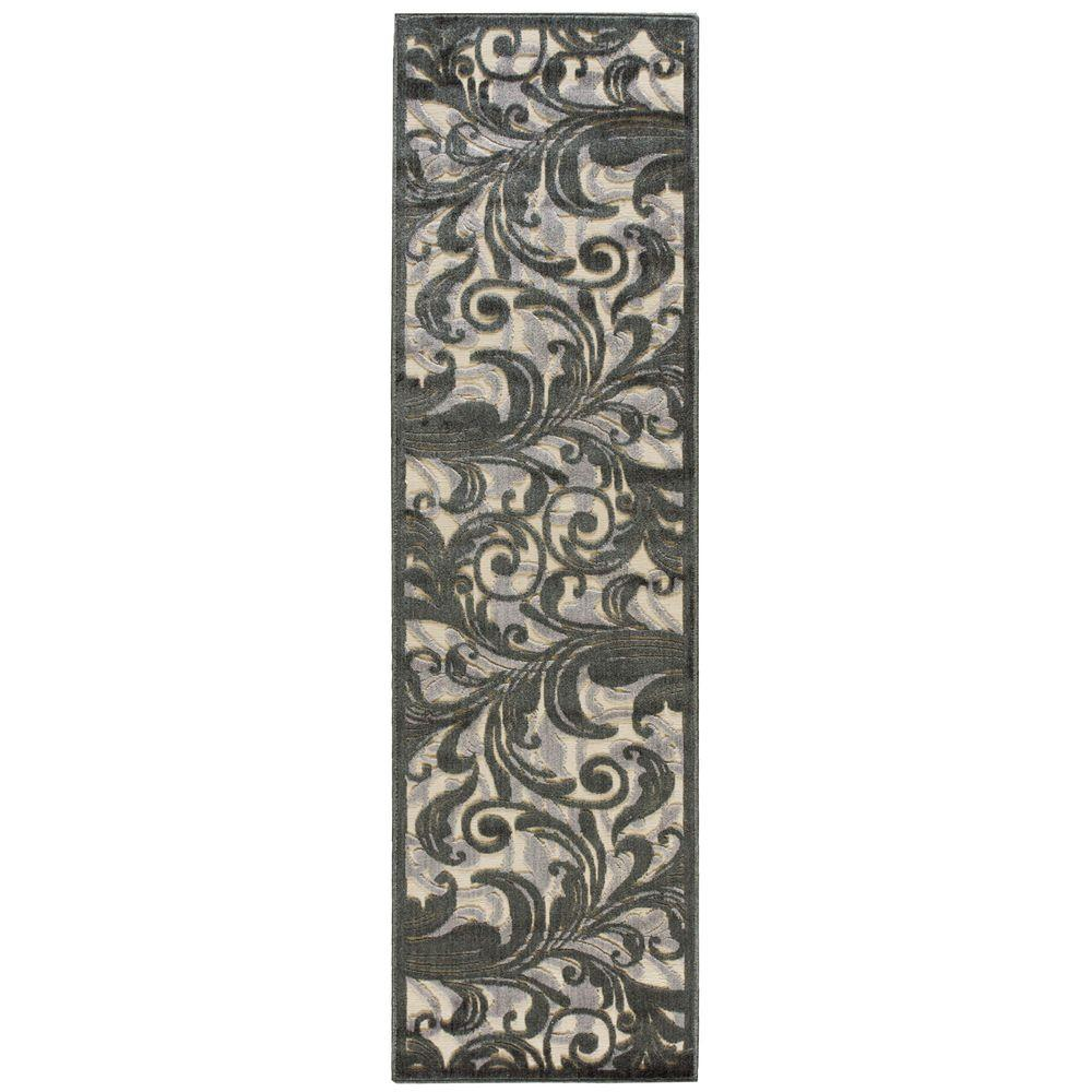 Nourison Graphic Illusions Multi 2 ft. 3 in. x 8 ft.