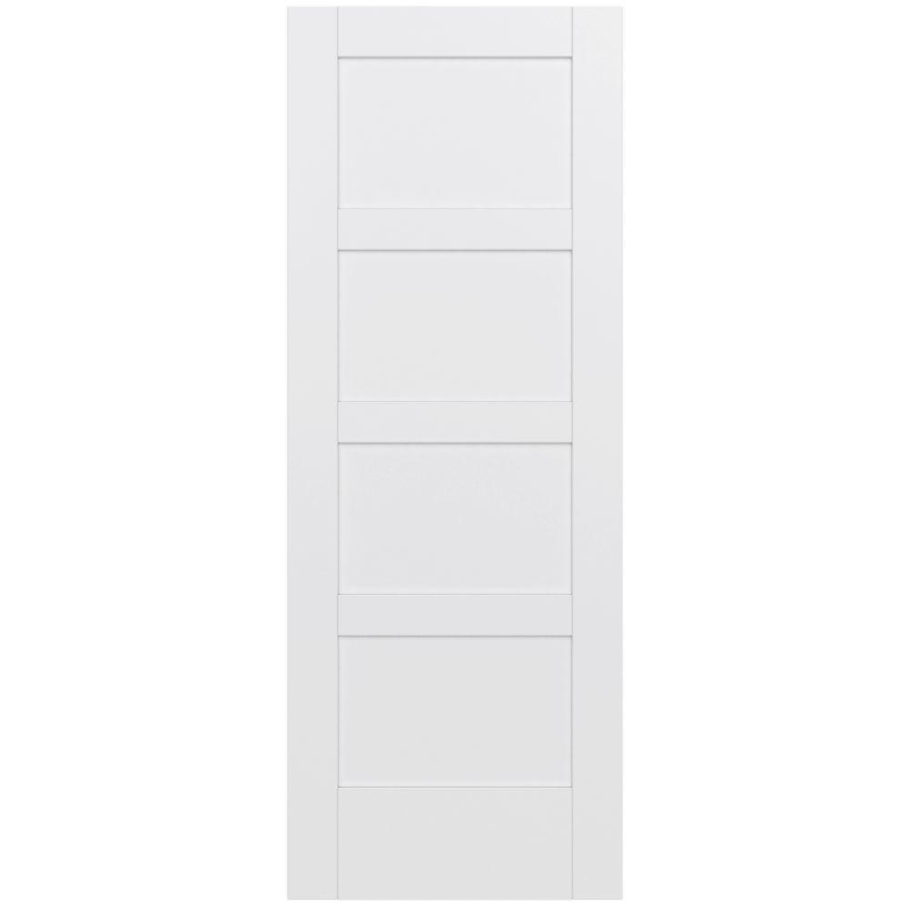 Jeld wen 32 in x 80 in moda primed pmp1044 solid core wood interior door slab thdjw221100013 for Solid wood interior doors home depot