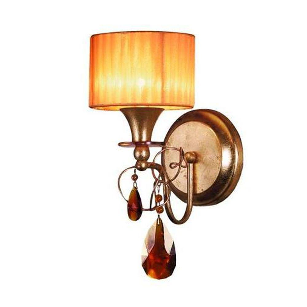 Eurofase Tempest Collection 1-Light Gold Leaf Wall Sconce