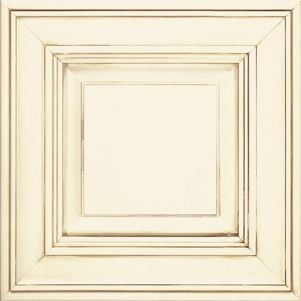 Thomasville 14.5x14.5 in. Cabinet Door Sample in Camden Cotton with Toasted Almond