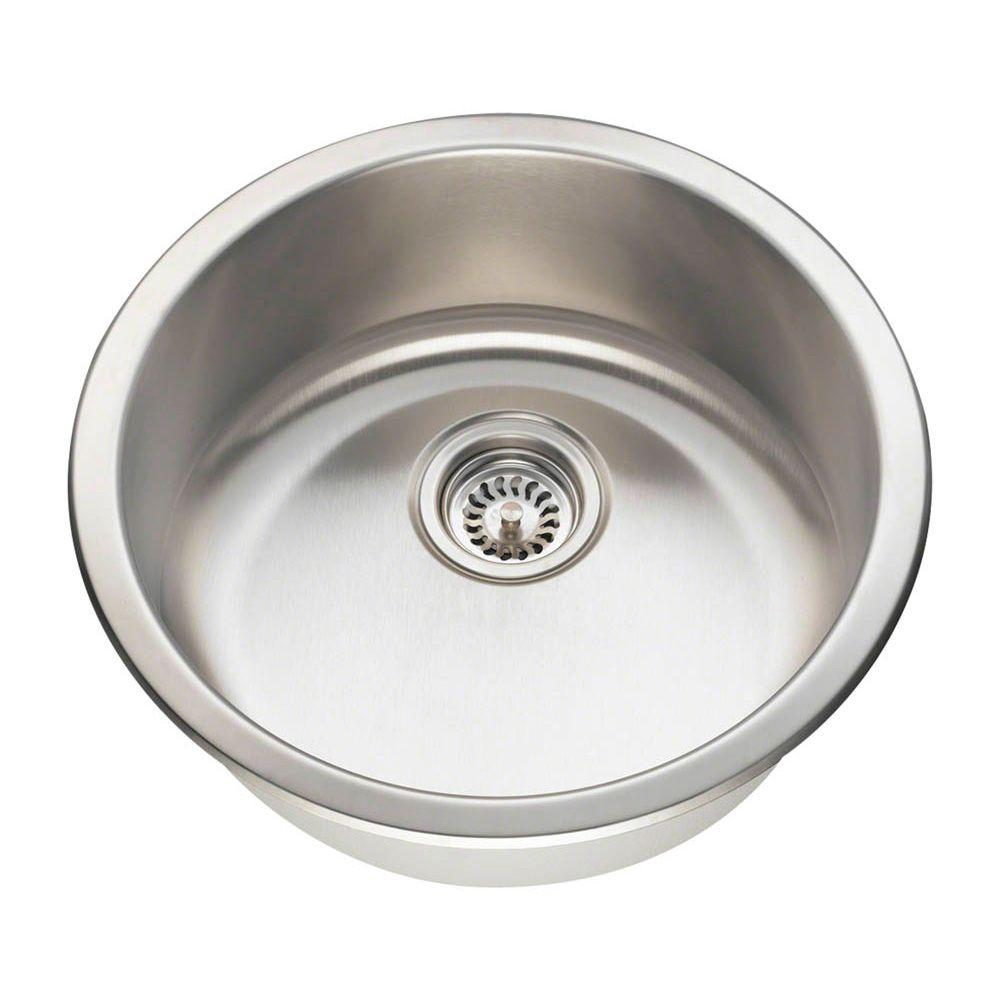 Dualmount Stainless Steel (Silver) 18-1/4 in. Single Bowl Bar Sink
