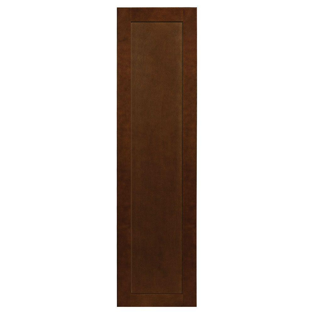 11x41.375x0.625 in. Shaker Decorative End Panel in Cognac
