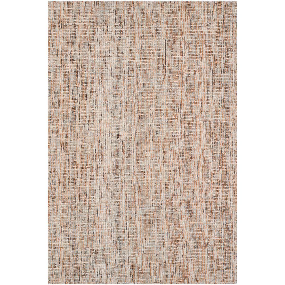 Abstract Beige/Rust 4 ft. x 6 ft. Area Rug
