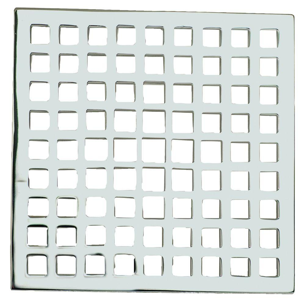 Tub and Shower 6 in. Decorative Shower Drain in Polished Chrome