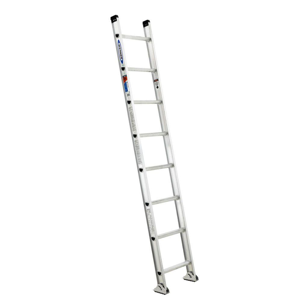 Werner 8 ft. Aluminum D-Rung Straight Ladder with 300 lb. Load