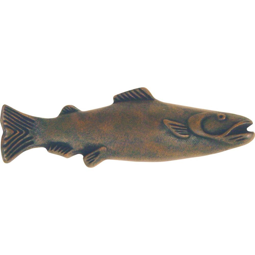 Atlas Homewares Fish Collection Rust 4 in. Pull-2217-R - The Home