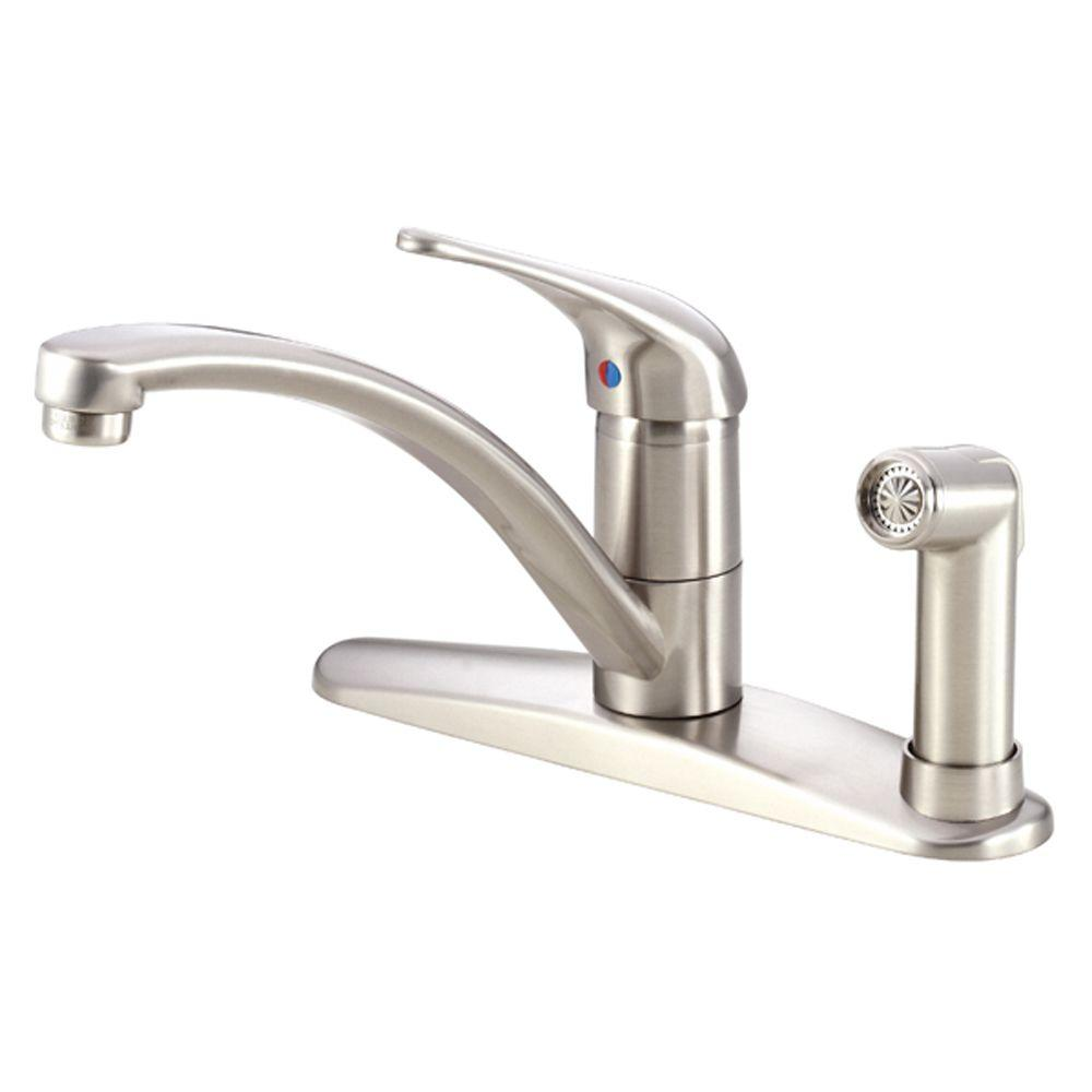 Melrose Single-Handle High-Arc Standard Kitchen Faucet with Side Sprayer in