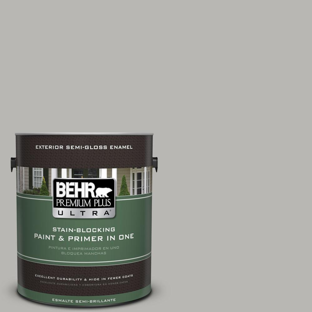 BEHR Premium Plus Ultra Home Decorators Collection 1-gal. #HDC-MD-26 Sonic Silver Semi-Gloss Enamel Exterior Paint