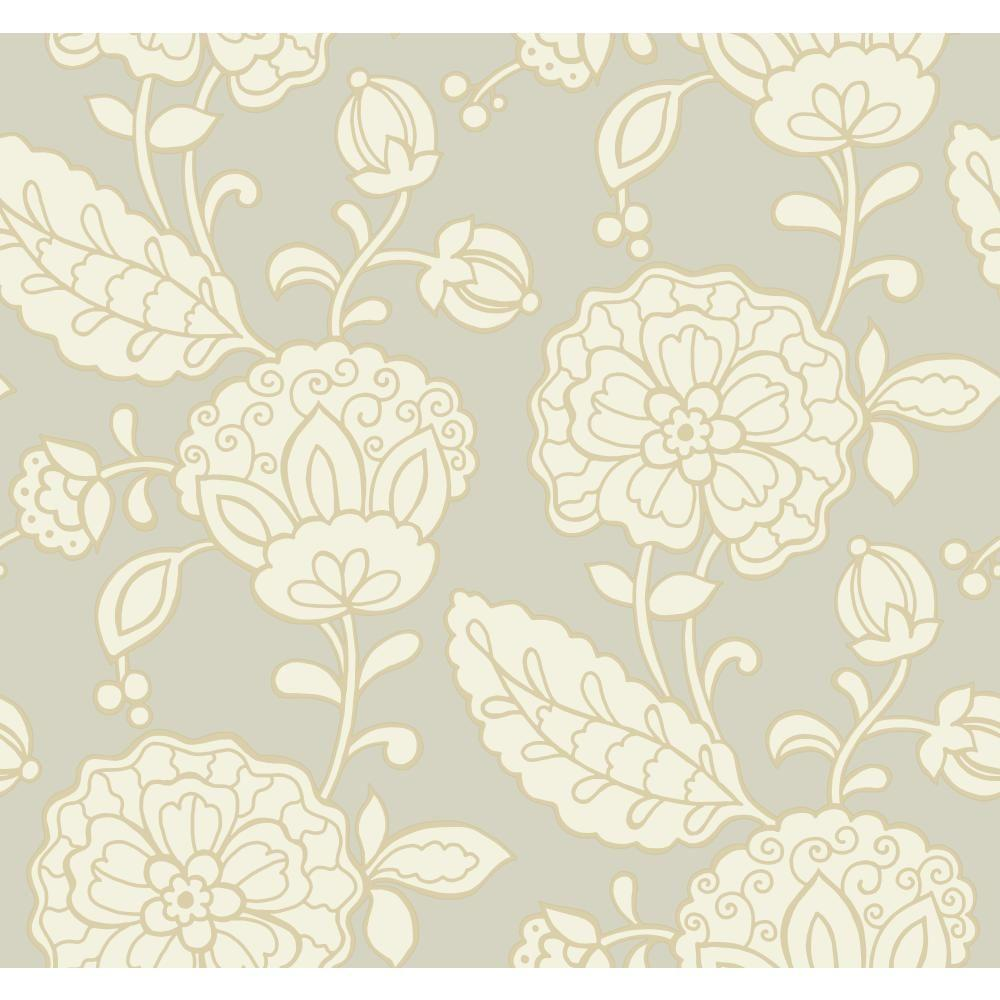 York Wallcoverings 60.75 sq. ft. Carey Lind Vibe Chunky Floral Wallpaper-EB2058