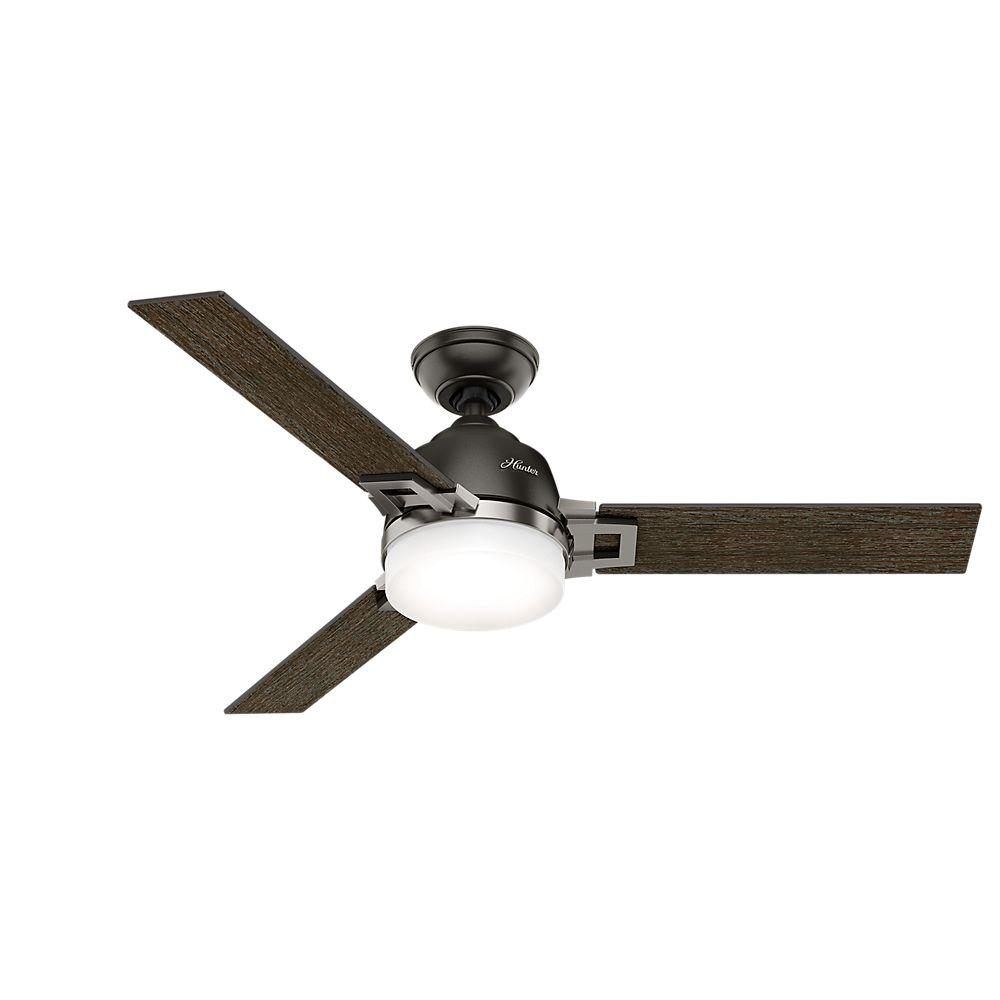 Leoni 48 in. LED Indoor Noble Bronze Ceiling Fan