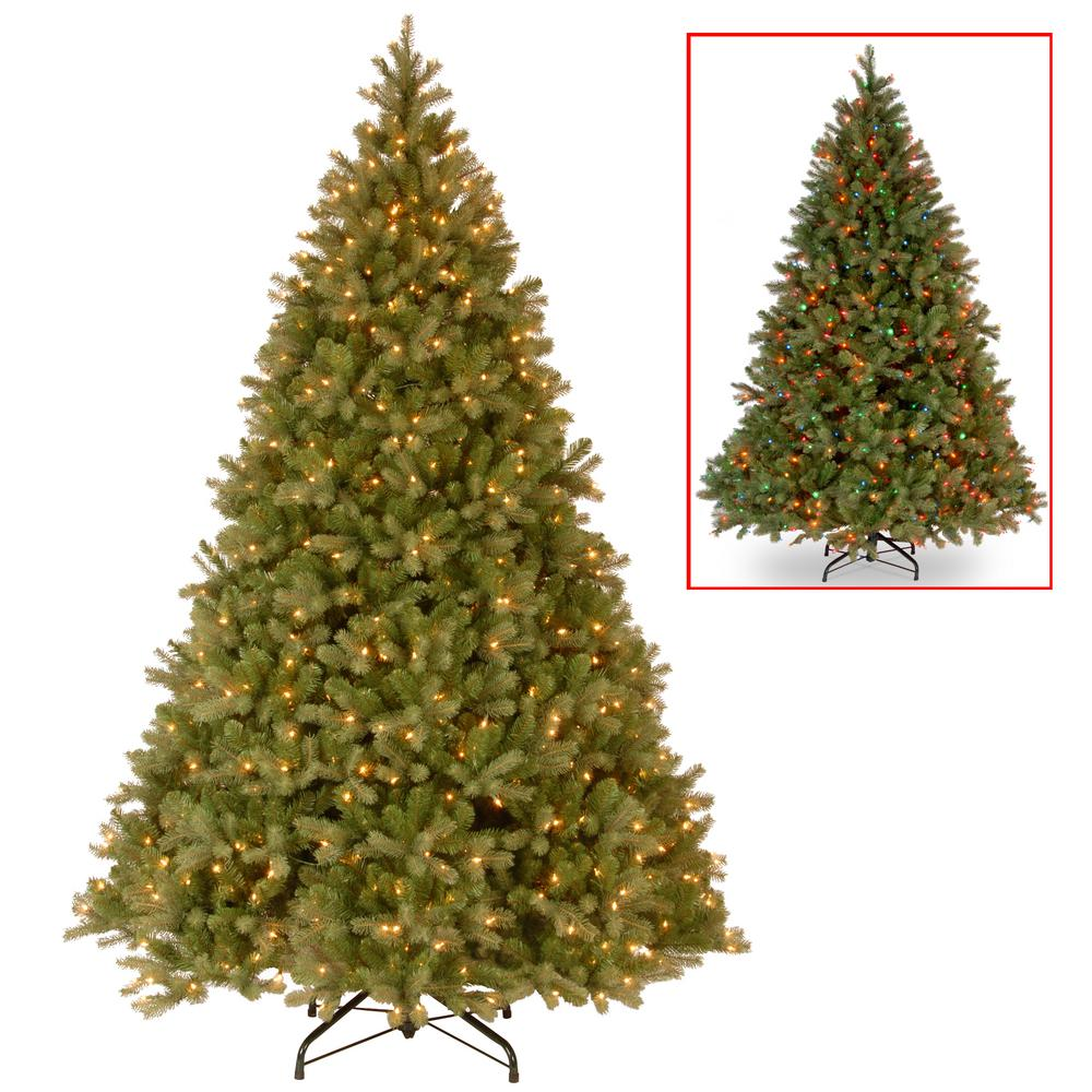 Dual Color Christmas Tree: National Tree Company 9 Ft. PowerConnect Downswept Douglas