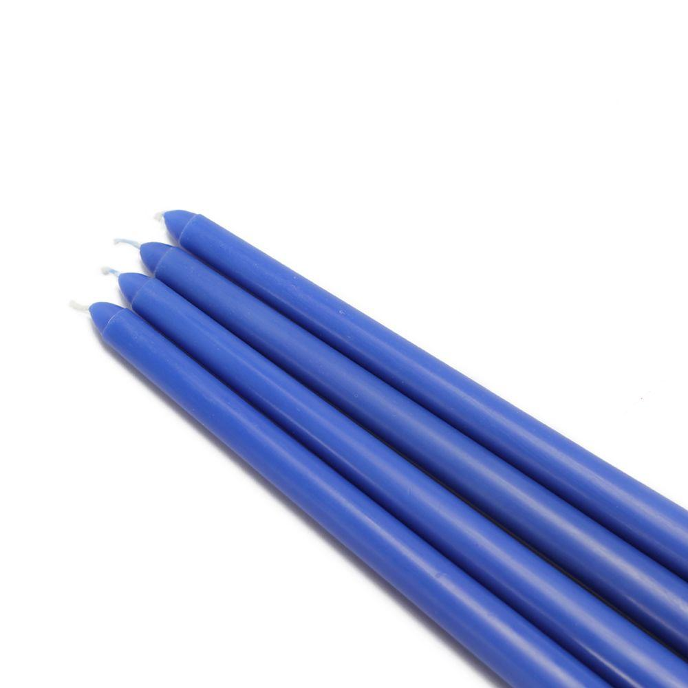 Zest Candle 12 in. Blue Taper Candles (12-Set)