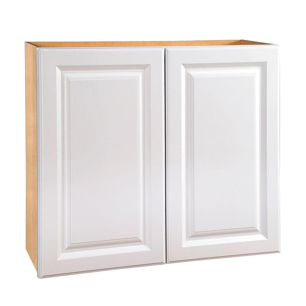 Home Decorators Collection Hallmark 30x30x12 in. Assembled Wall Kitchen Cabinet with Double Doors in Arctic White