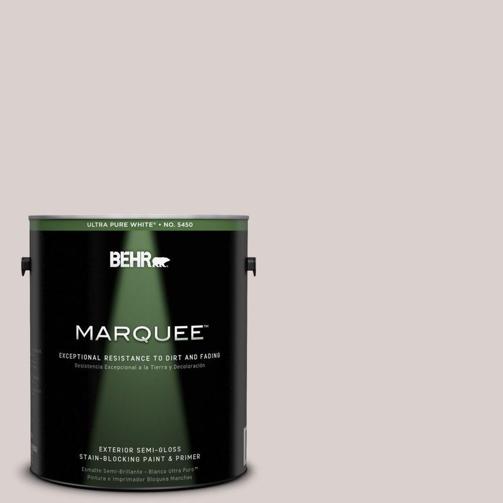 BEHR MARQUEE 1-gal. #780A-2 Smoked Oyster Semi-Gloss Enamel Exterior