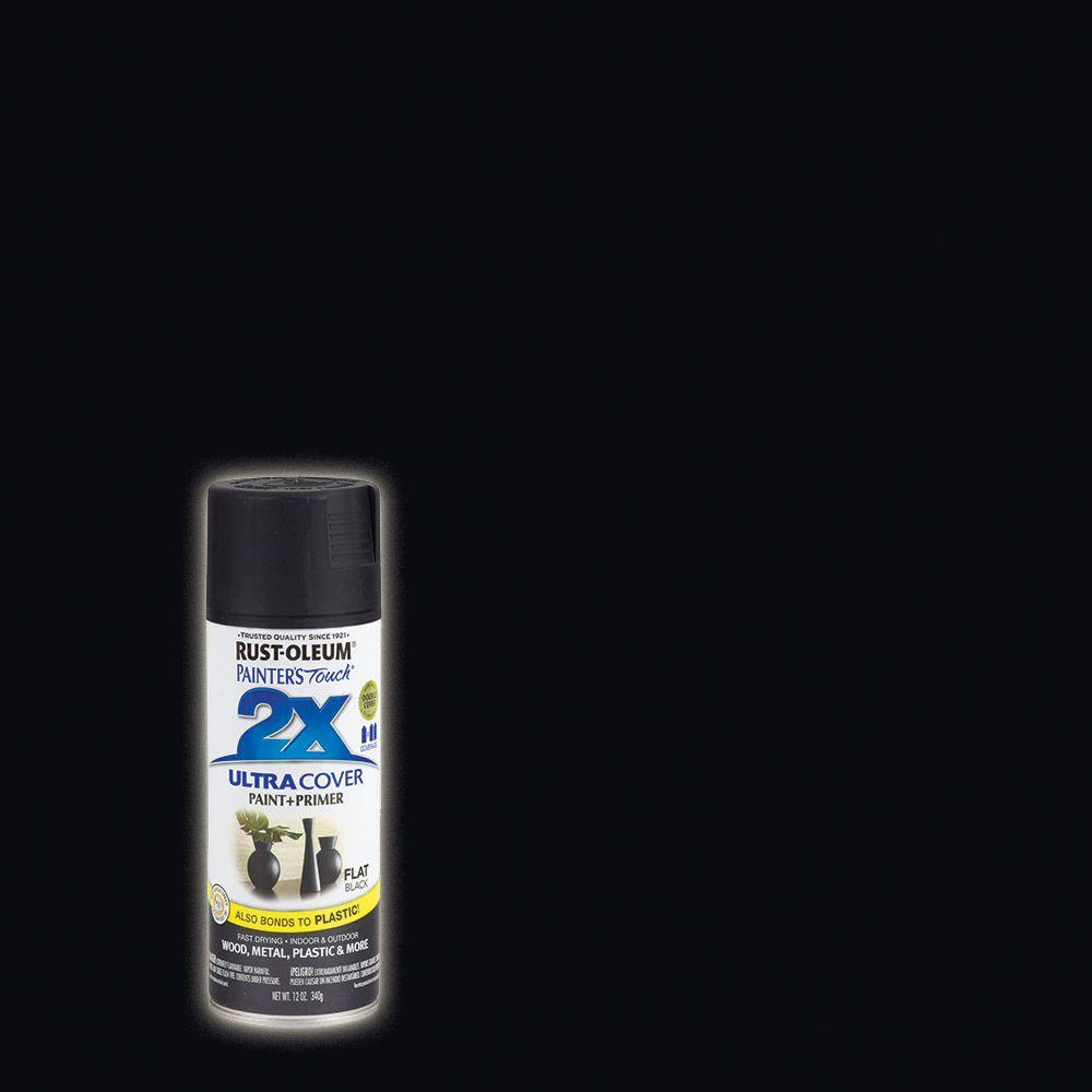 12 oz. Black Flat General Purpose Spray Paint (Case of 6)