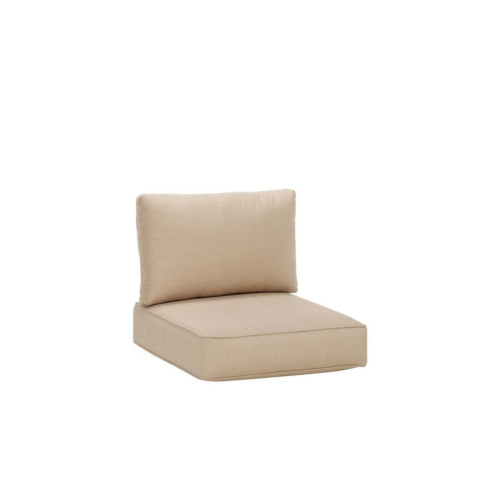 Northshore Patio Middle Armless Sectional Replacement Cushions in Harvest  sc 1 st  The Home Depot : replacement sectional cushions - Sectionals, Sofas & Couches