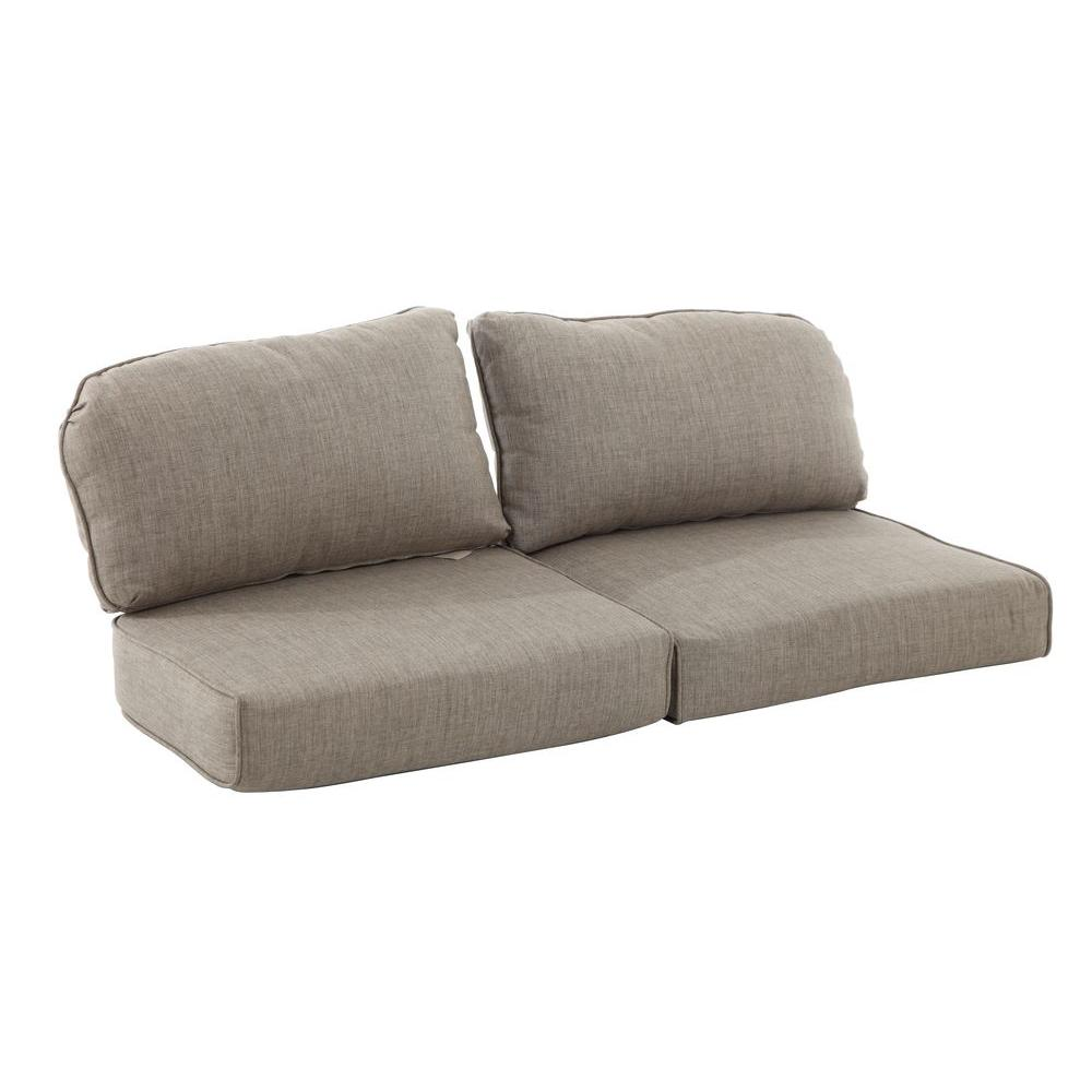 Martha Stewart Living Lily Bay-Lake Adela Wheat Replacement Outdoor Loveseat