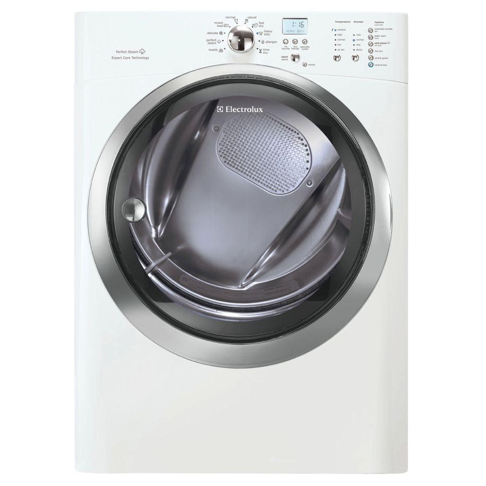 Electrolux IQ-Touch 8.0 cu. ft. Gas Dryer with Steam in White