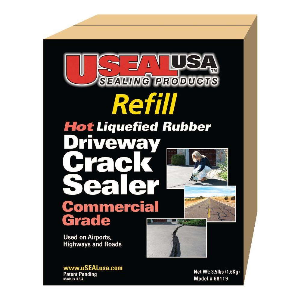 USEAL USA 3.5 lb. Driveway Crack Sealer Refill-68119 - The Home