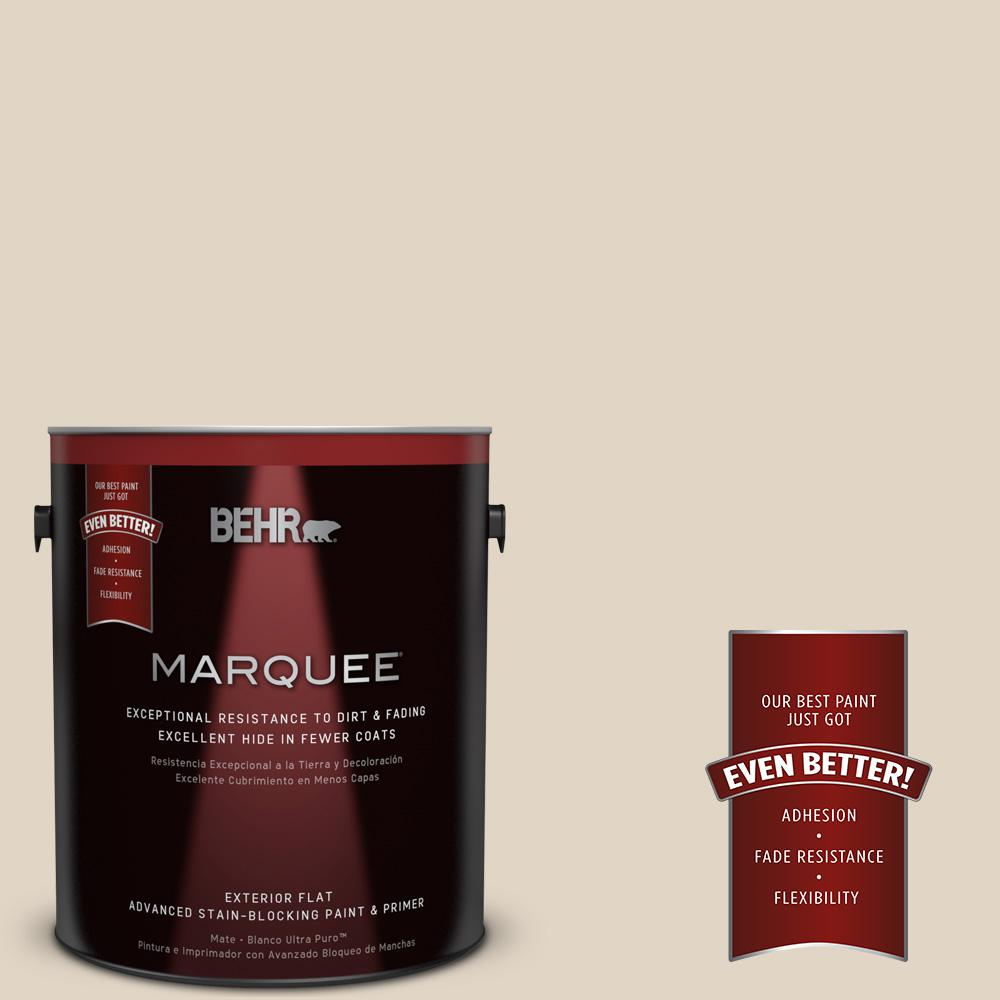 Home Decorators Collection 1-gal. #HDC-NT-15 Rococo Beige Flat Exterior Paint