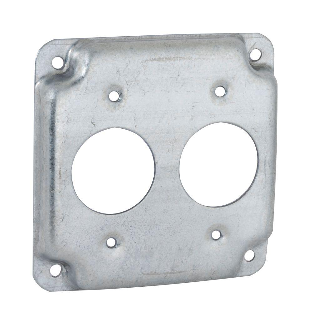 4 in. Square Exposed Work Cover for 15A Round Devices (10