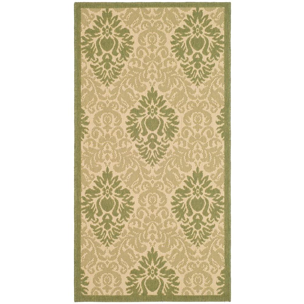 Courtyard Natural/Olive (Natural/Green) 2 ft. 7 in. x 5 ft. Indoor/Outdoor Area Rug Sale $35.88 SKU: 204827094 ID: CY2714-1E01-3 UPC: 683726133957 :