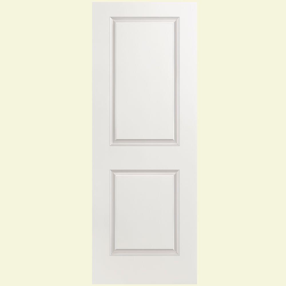 Masonite 28 in x 80 in solidoor smooth 2 panel solid for Interior panel doors