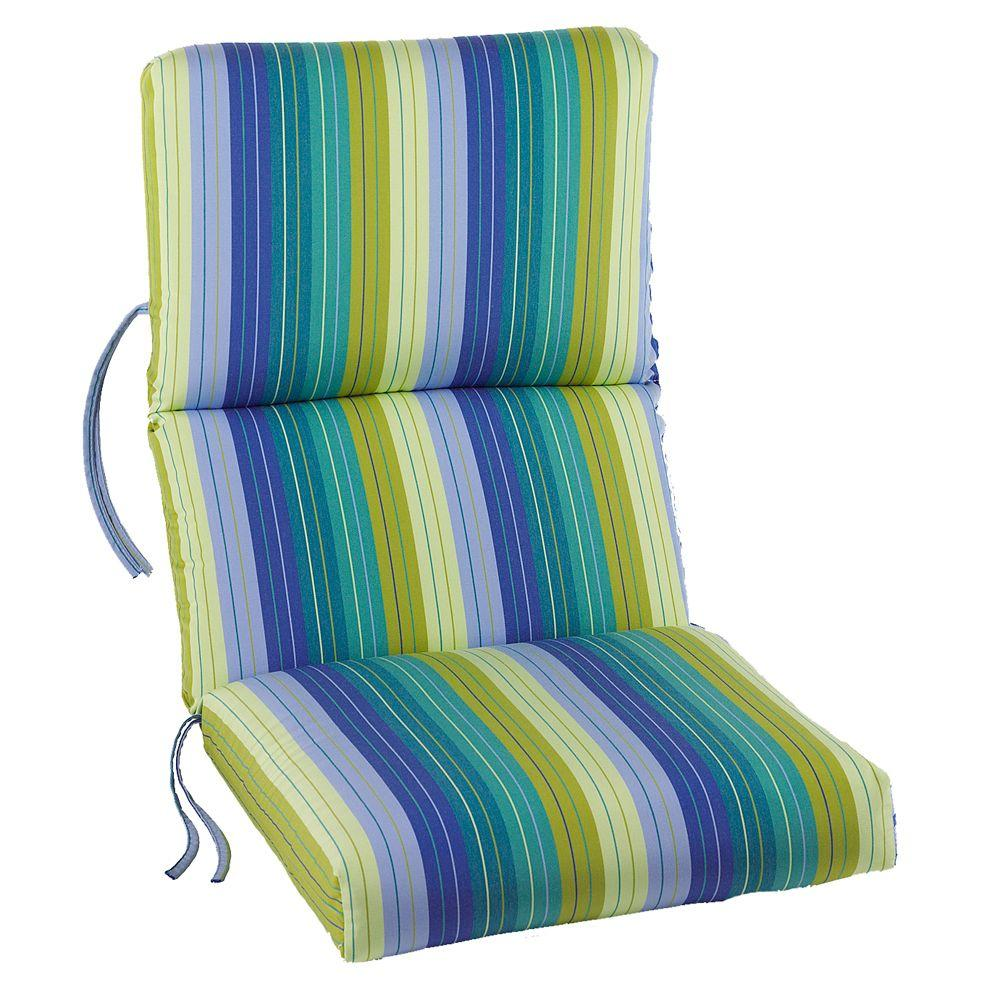 Sunbrella Seaside Seville Outdoor Dining Chair Cushion-1573310330 - The Home