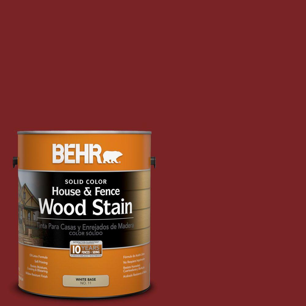 1-gal. #SC-112 Barn Red Solid Color House and Fence Wood Stain