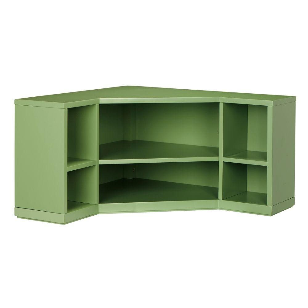 13 in. H x 32 in. W 6-Corner Cubbies in Rhododendron Leaf