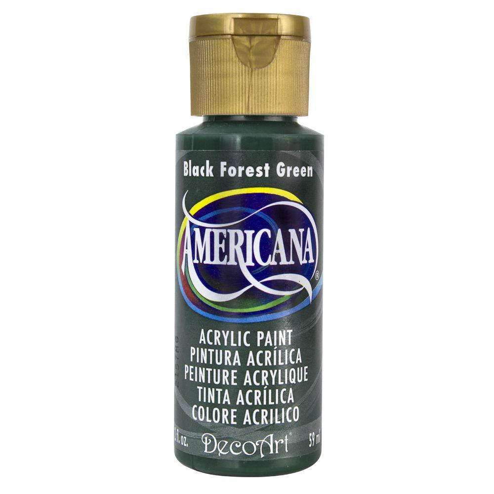 Americana 2 oz. Black Forest Green Acrylic Paint