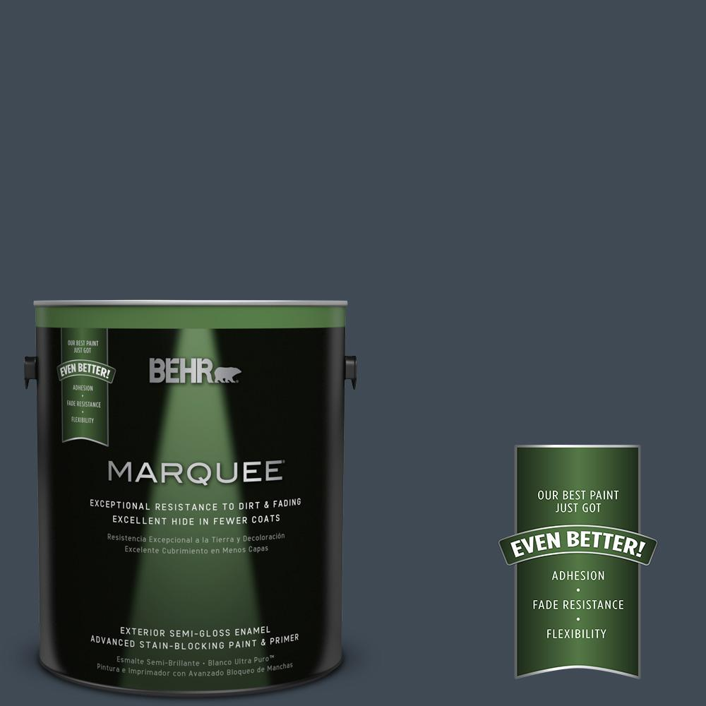 1-gal. #QE-56 Club Navy Semi-Gloss Enamel Exterior Paint