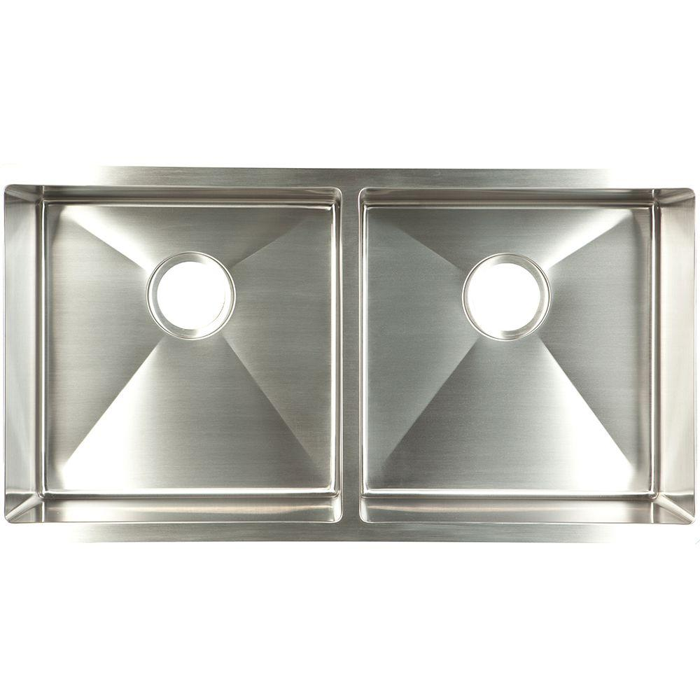 Franke Undermount Stainless Steel 35x18x9 Double Basin