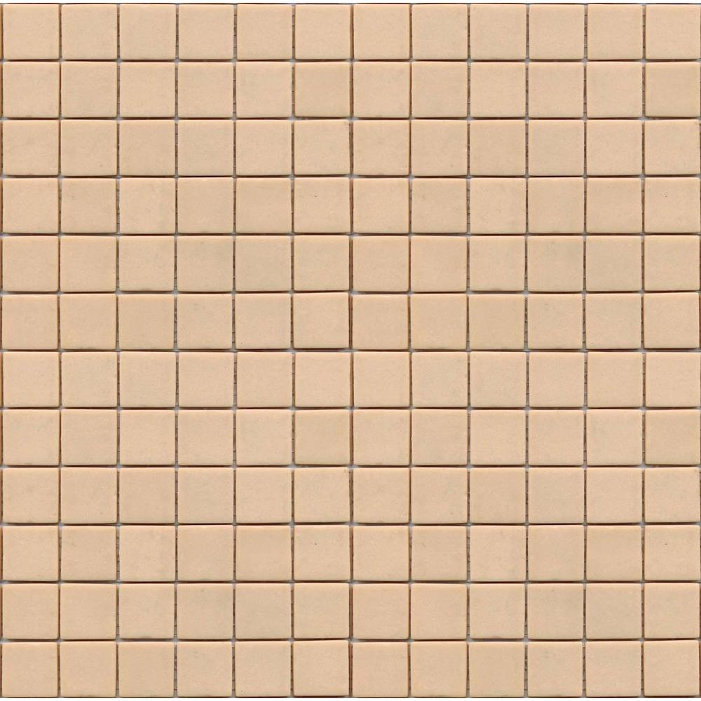 Coffeez Latte-1101 Mosaic Recycled Glass 12 in. x 12 in. Mesh