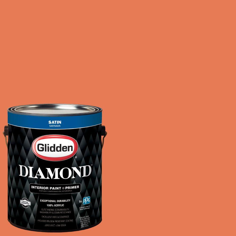 Glidden Diamond 1 gal. #HDGO15D Hibiscus Bloom Satin Interior Paint with