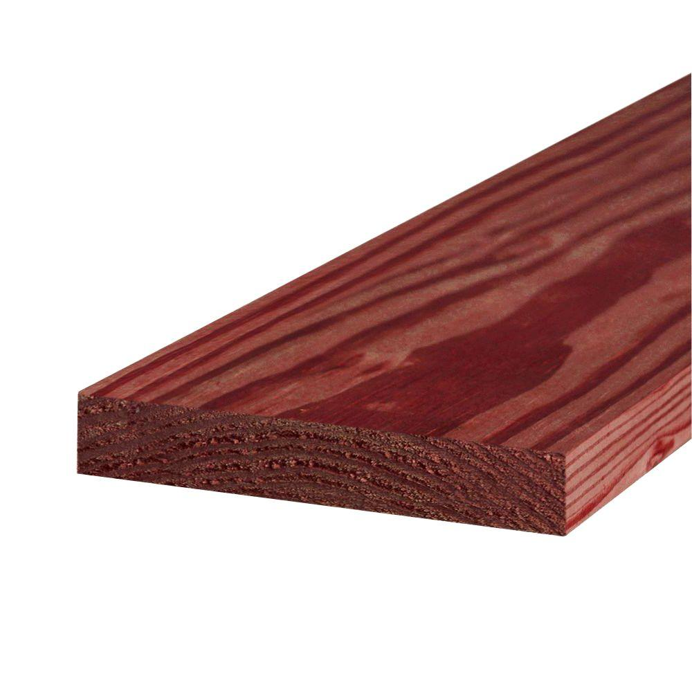 2 in. x 10 in. x 8 ft. #1 Redwood-Tone Ground