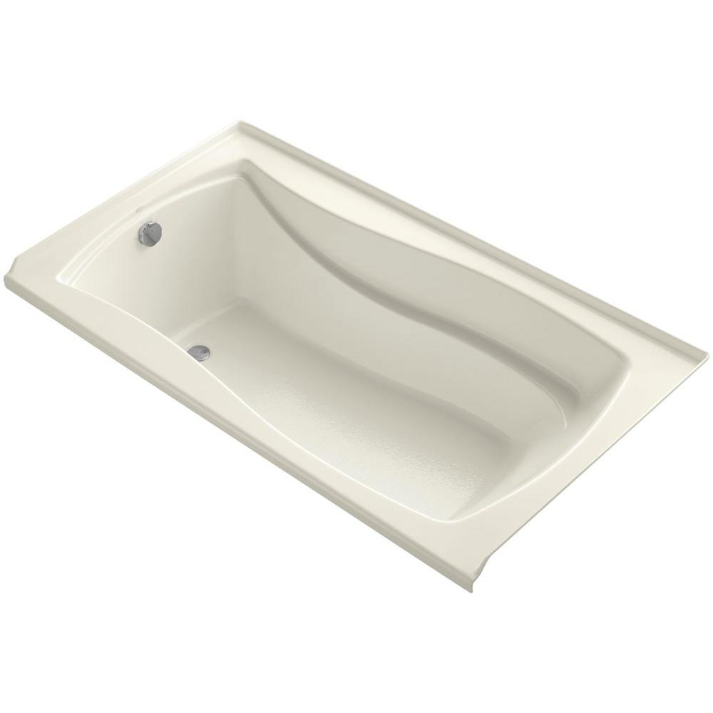 KOHLER Mariposa 5.5 ft. Left Drain Soaking Tub in Biscuit with