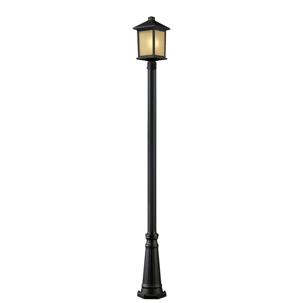 Lawrence 1-Light Oil-Rubbed Bronze Incandescent Outdoor Post Light