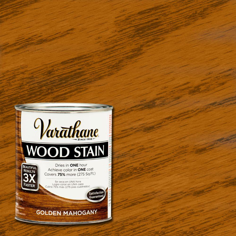 1 qt. 3X Golden Mahogany Premium Wood Stain (Case of 2)
