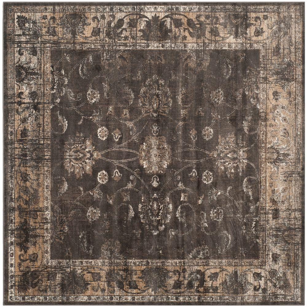 Vintage Soft Anthracite 8 Ft. X 8 Ft. Square Area Rug