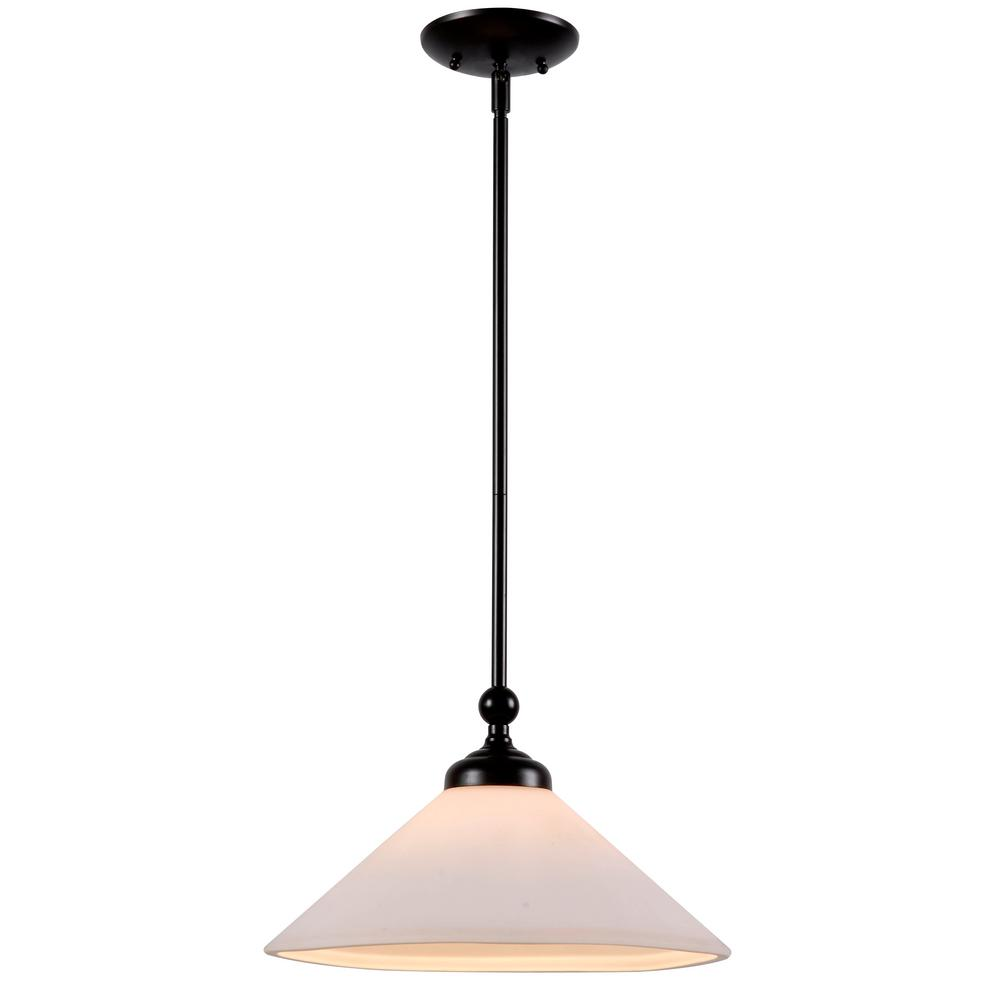 Conical 1-Light Oil Rubbed Bronze Pendant