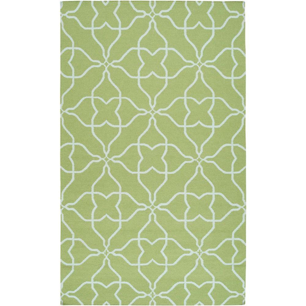 Artistic Weavers Elena Lime 3 ft. 6 in. x 5 ft. 6 in. Flatweave Area Rug
