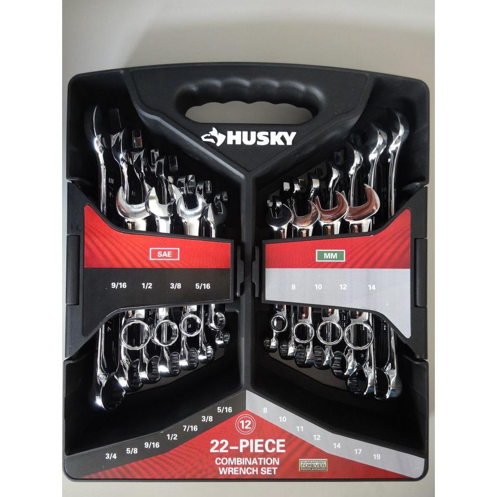 Husky Combination Wrench Set (22-Piece)